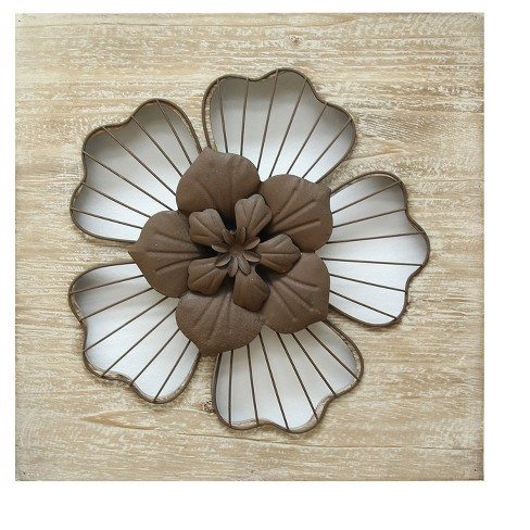 Rustic Flower Wall Decor - Stratton Home Decor - image 1 of 2