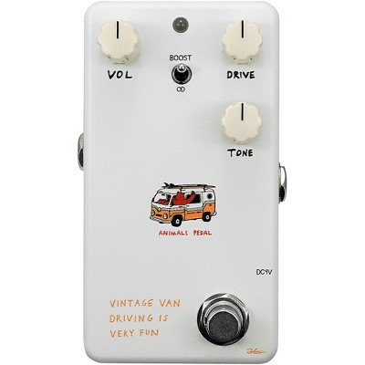 Animals Pedal Vintage Van Driving Is Very Fun Overdrive V2 Effects Pedal White