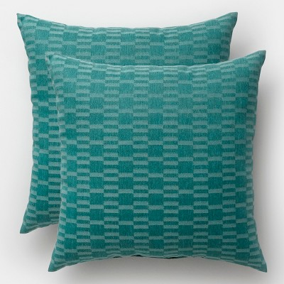 2pk City Geo Square Outdoor Pillows Smoke Green - Project 62™