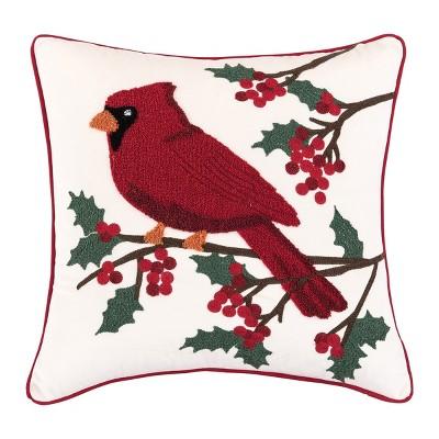 "C&F Home 18"" x 18"" Cardinal Berries Pillow"