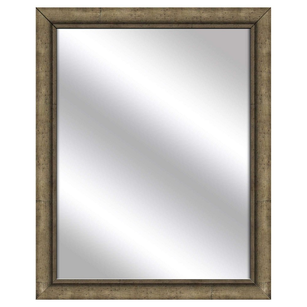 Decorative Wall Mirror Ptm Images Silver Gray