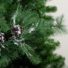 "Northlight 24"" Flocked Long Pine Needle and Pine Cone Artificial Christmas Spray - image 3 of 3"