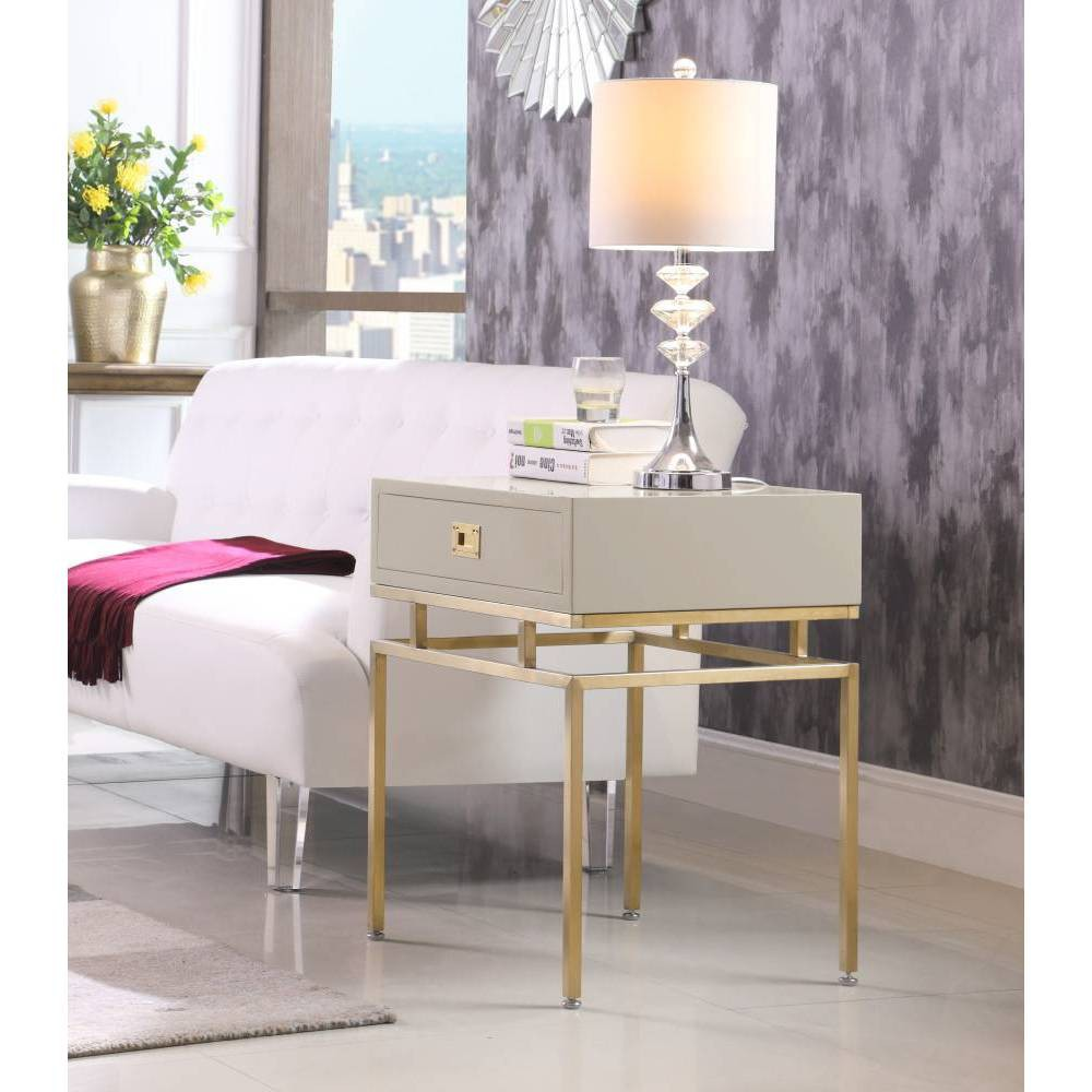 Banchi Side Table Beige - Chic Home Design was $459.99 now $275.99 (40.0% off)