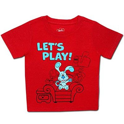 Nickelodeon Boy's Blue's Clues Short Sleeve Graphic Tee Shirt for Toddlers