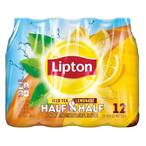 Lipton Half Iced Tea & Half Lemonade - 12pk/16.9 fl oz Bottles - image 1 of 4