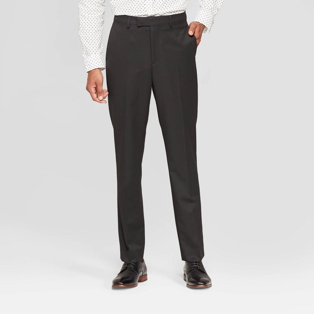 Mens 30 Slim Fit Suit Pants - Goodfellow & Co Black Tie 42x30 Coupons