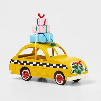 Small Taxi Car with Presents on Top Decorative Figurine - Wondershop™
