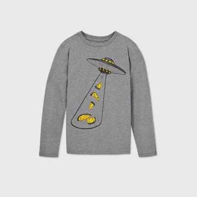 Boys' Alien Graphic Long Sleeve T-Shirt - Cat & Jack™ Gray XXL