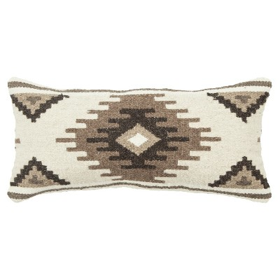 14 X26 Lumbar Geometric Throw Pillow Beige Brown Rizzy Home Target