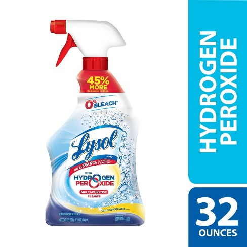 Lysol Power And Free Multi Purpose Citrus Sparkle Cleaner Spray Bleach Free 22 Fl Oz Target
