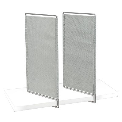 Office shelf dividers Metal Shelf Lynk Vela Shelf Dividers set Of 4 Closet Shelf Organizer Platinum Target Target Lynk Vela Shelf Dividers set Of 4 Closet Shelf Organizer