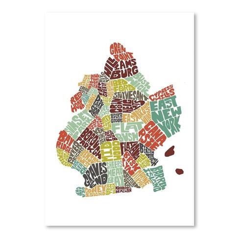 Americanflat Brooklyn Color By Joe Brewton 22 X28 Poster Art Print Target