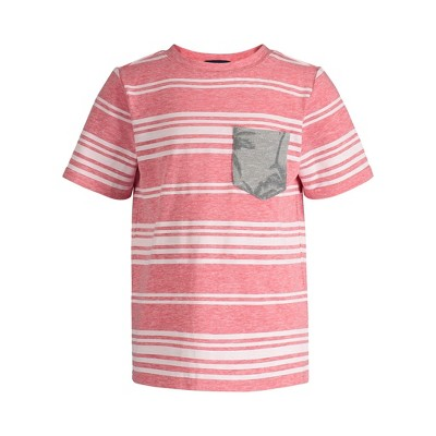 Andy & Evan  Toddler  Boys Striped Pocket Tee