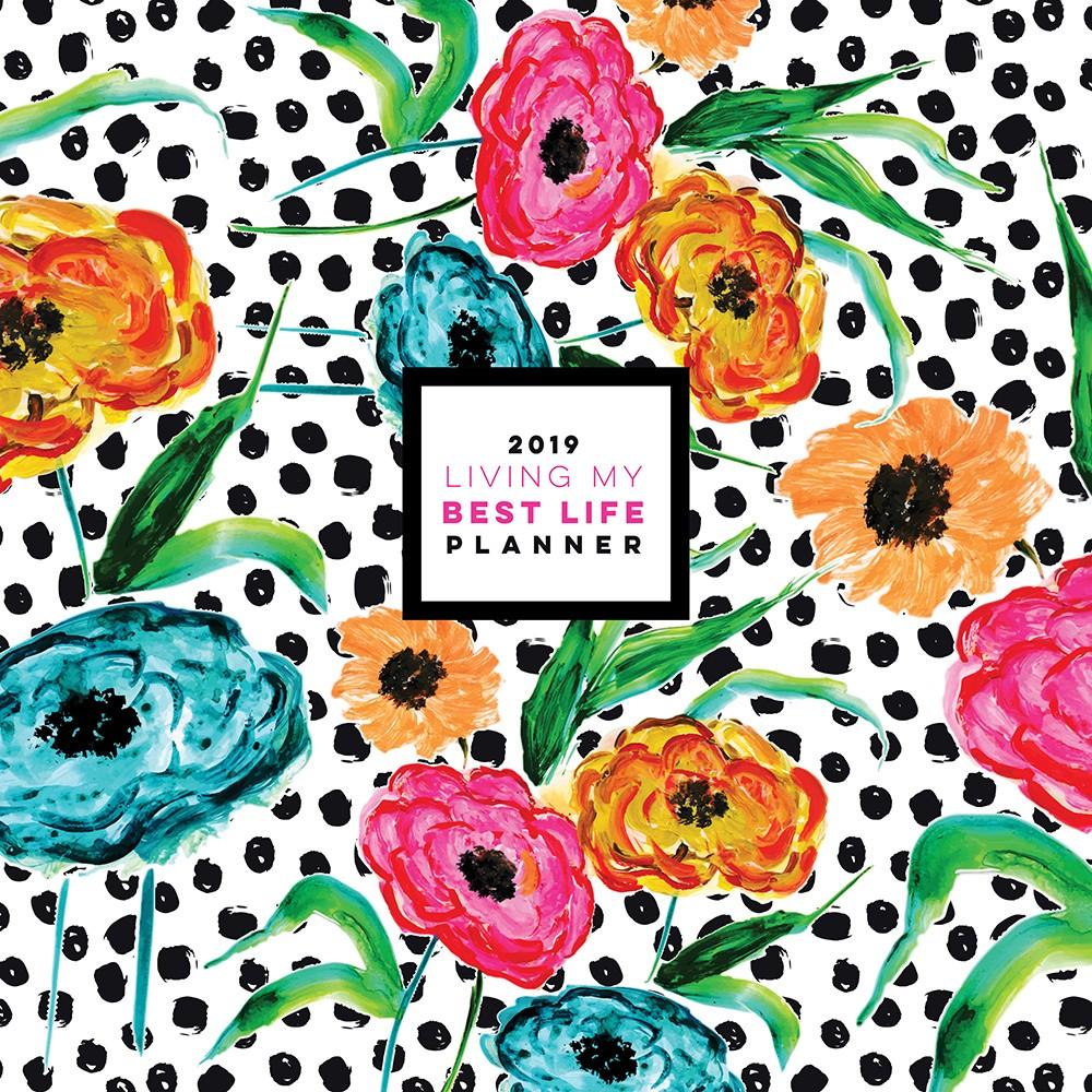 "2019 Planner 12""x 12"" Flowers & Polka Dots - TF Publishing"