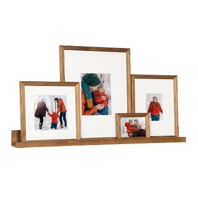 5pc Bordeaux Frame Box Set Natural Brown - Kate & Laurel All Things Decor