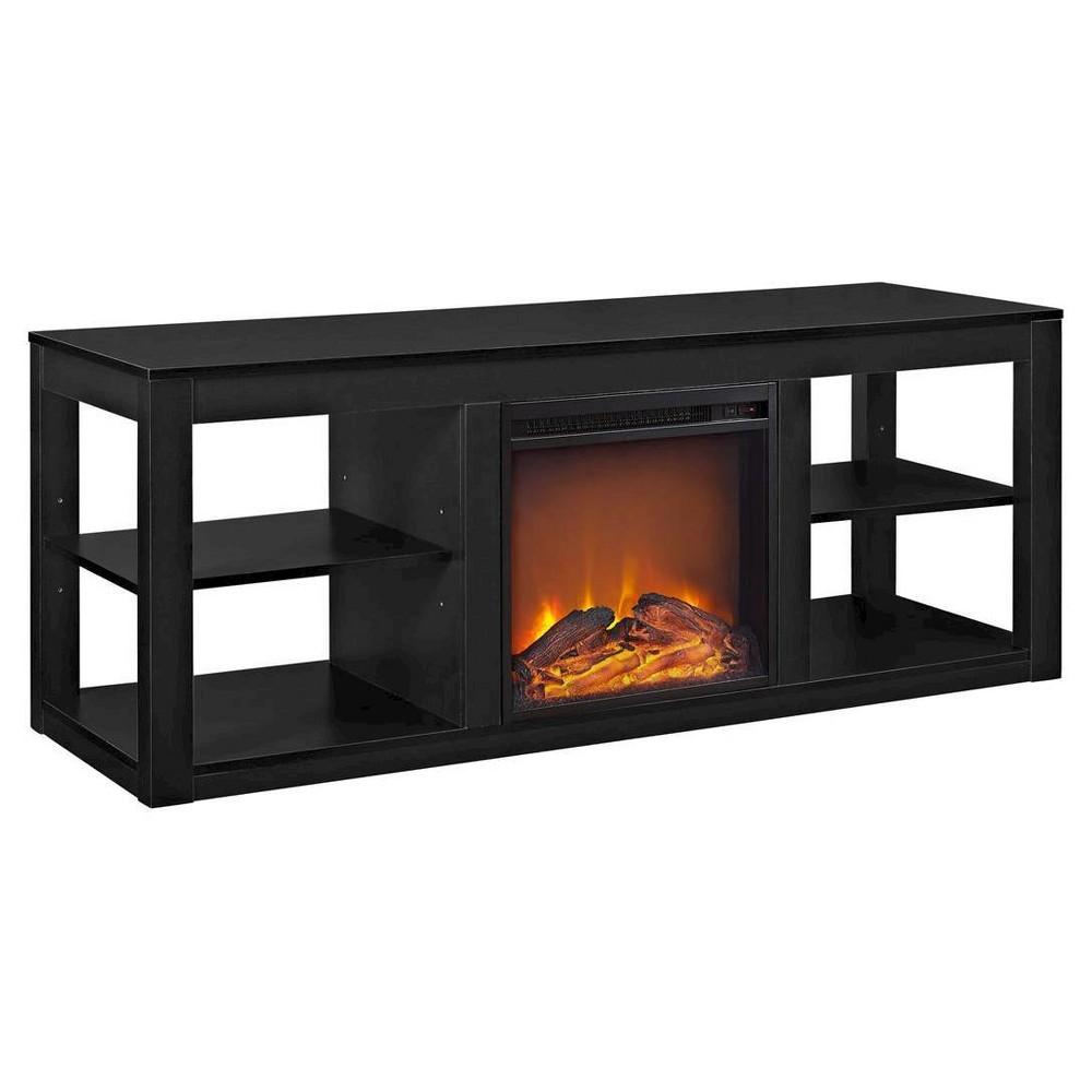 George Fireplace TV Console - Black - Room & Joy
