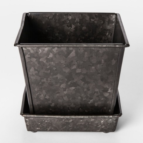 galvanized planter pot small smith hawken target. Black Bedroom Furniture Sets. Home Design Ideas