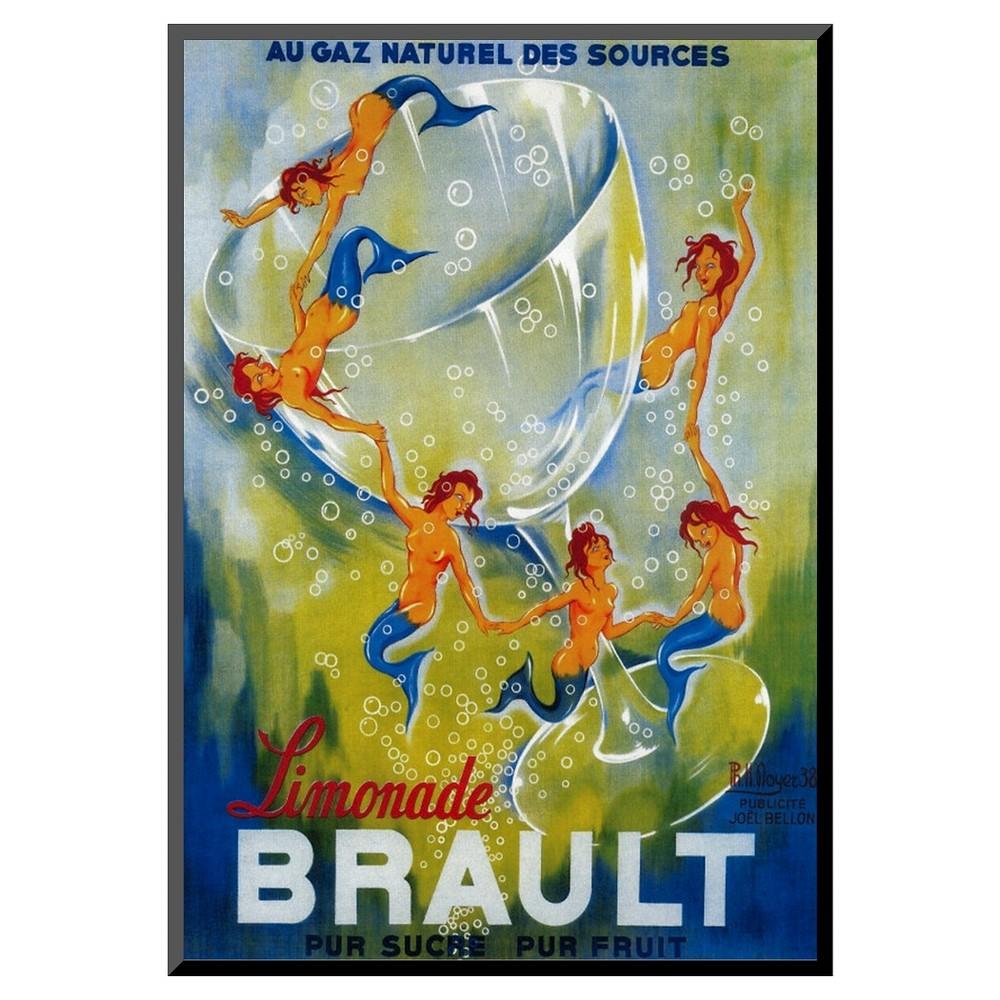 Art.com Limonade Brault Vintage Poster - Mounted Print, Vintage Yellow