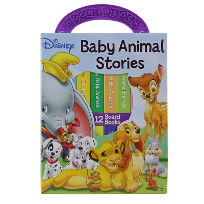 Disney Baby Animal Stories: My First Library 12 Board Book Block Set (Board Book)