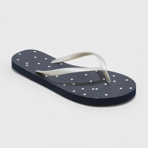 Women's Sara Americana Flip Flop Sandals - Shade & Shore™ - image 1 of 3
