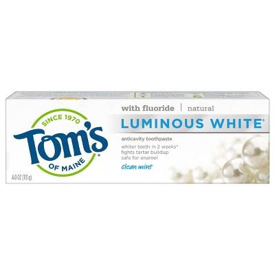 Toothpaste: Tom's of Maine Luminous White