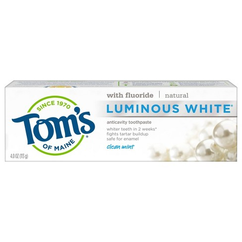 Tom's of Maine Luminous White Anti-cavity Toothpaste Clean Mint - 4.0oz - image 1 of 4