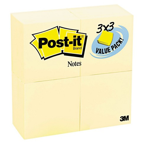 Post-it® Notes 3 x 3 Original Notes- Canary Yellow (24 90-Sheet Pads per Pack) - image 1 of 2