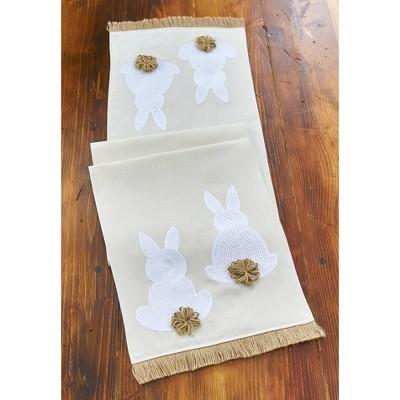 Lakeside Easter Bunny Table Runner - Seasonal Holiday Tabletop Decoration