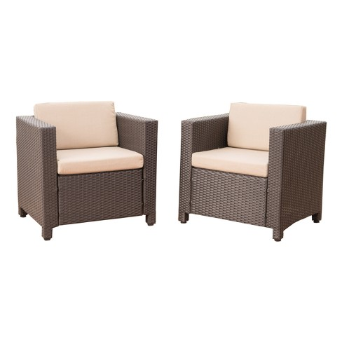 Puerta Set of 2 Wicker Club Chair - Christopher Knight Home - image 1 of 4