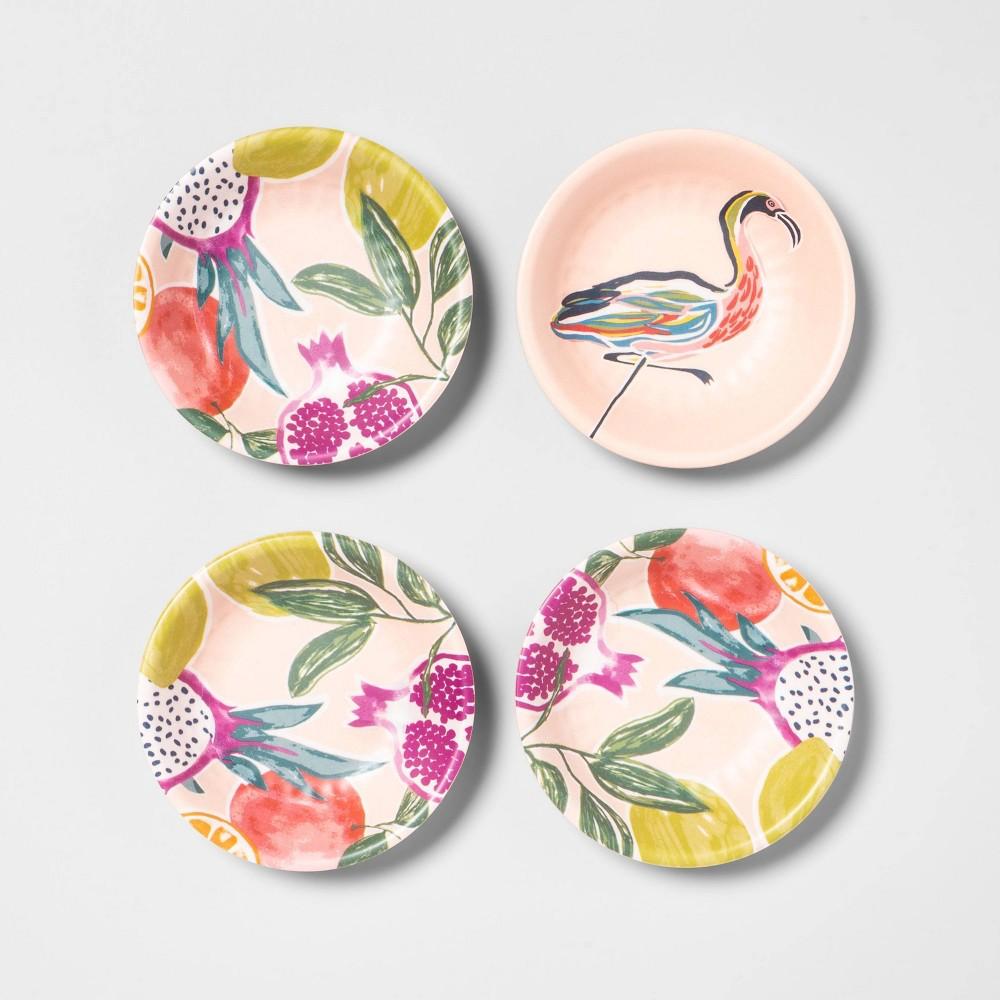 Image of 0.24oz 4pk Melamine Dip Bowls Pink - Opalhouse