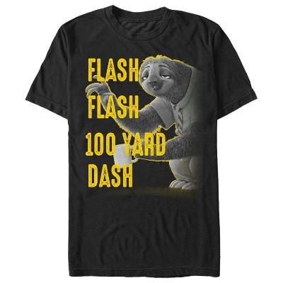 Men's Zootopia Sloth Flash 100 Yard Dash T-Shirt