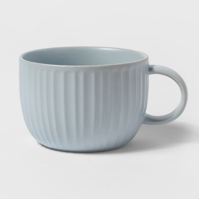24oz Stoneware Soup Mug Blue - Threshold™