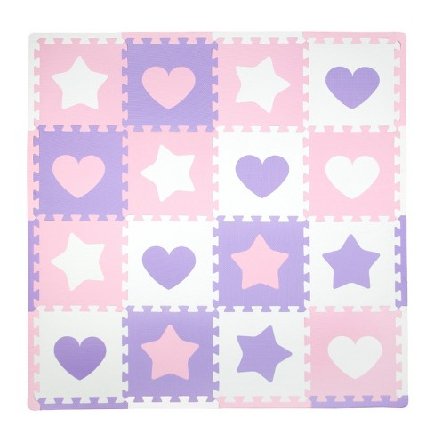Tadpoles Hearts Playmat Set, Pink - image 1 of 3
