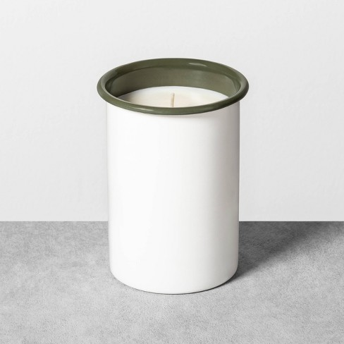 14.5oz Enamelware Candle Green Pomelo Coconut - Hearth & Hand™ with Magnolia - image 1 of 3