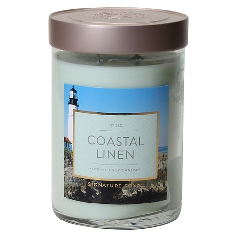 Jar Candle Coastal Linen 21oz - Signature Soy® - image 1 of 1