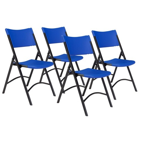 Set Of 4 Heavy Duty Plastic Folding Chairs Blue Hampton Collection Target