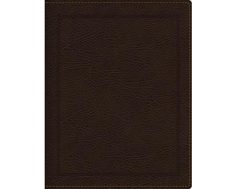 NKJV Journal the Word Bible : New King James Version, Brown Bonded Leather, Comfort Print -  (Paperback) - image 1 of 1