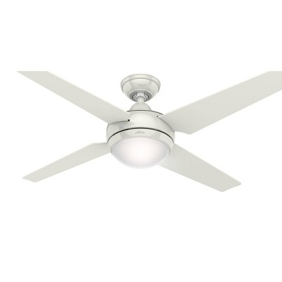 "52"" Sonic Ceiling Fan with Remote White (Includes Energy Efficient Light) - Hunter"