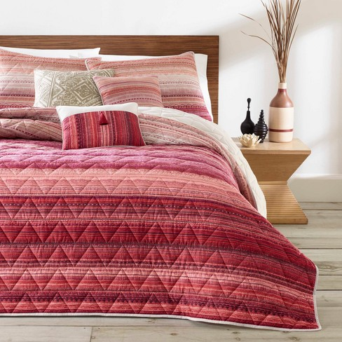 Red Diya Quilt Set - Azalea Skye - image 1 of 3