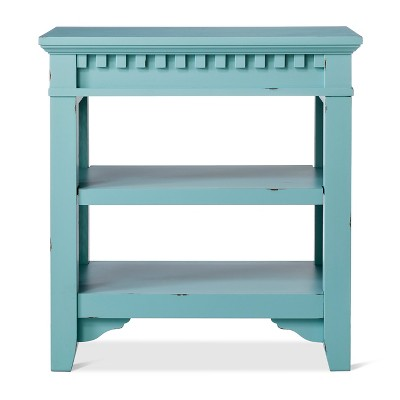 Arman Distressed Side Table Blue   Beekman 1802 FarmHouse™