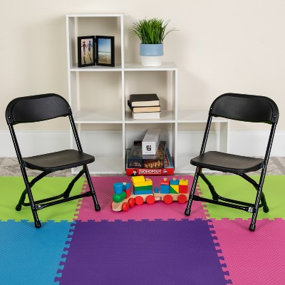 Flash Furniture 2 Pack Kids Plastic Folding Chair
