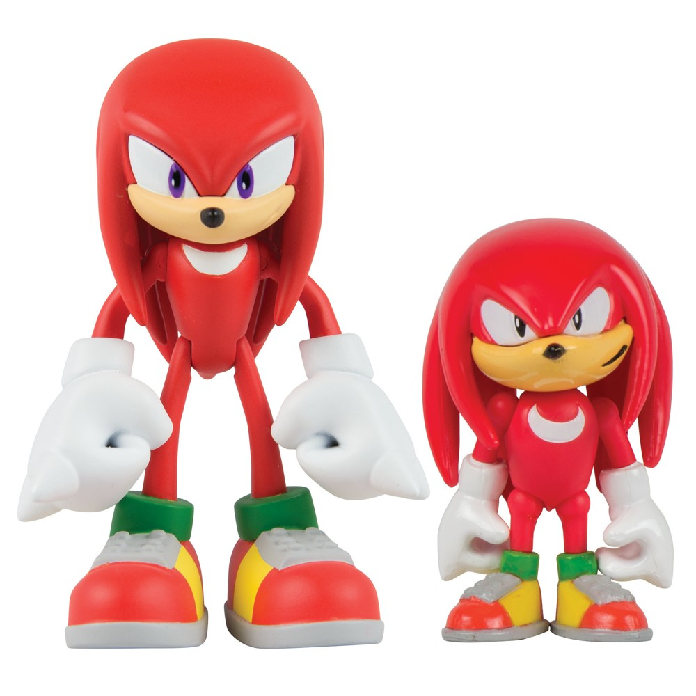 Sonic the Hedgehog 3 Figure 2 Pack with Comic Book, Classic Knuckles and Modern Knuckles