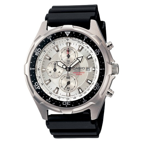 Men's Casio Dive Style Stainless Steel Chronograph Watch - White (AMW330-7AV) - image 1 of 3
