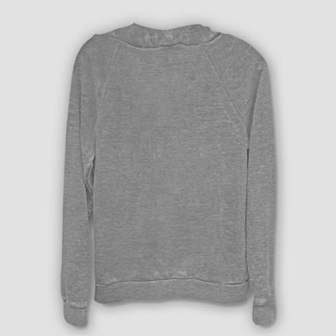 Women s Disney Princess Ariel Lights Sweatshirt - Gray   Target 86e6a3c3c6