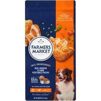 Farmers Market Real Chicken & Farm Vegetables Recipe Adult Dry Dog Food