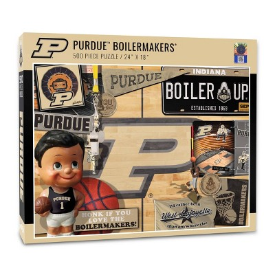 NCAA Purdue Boilermakers Throwback Puzzle 500pc