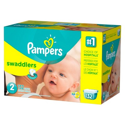 Pampers Swaddlers Diapers, Giant Pack - Size 2 (132 ct)