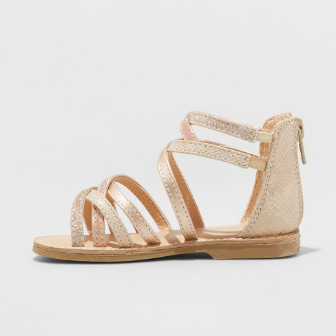 c7cb35747bf5 Toddler Girls  Cami Two Piece Gladiator Sandals - Cat   Jack™ Gold 11    Target