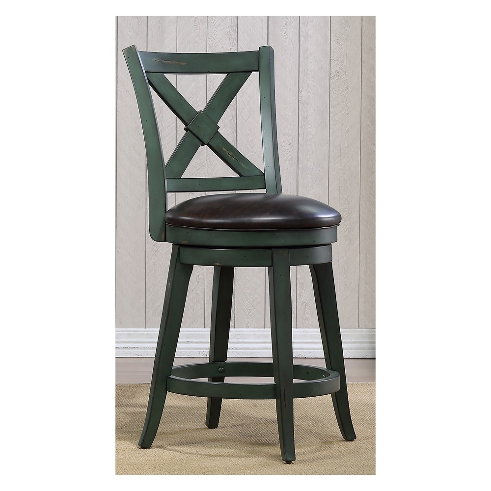 40 Bailey Counter Height Swivel Stool Green - Foremost