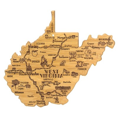 Totally Bamboo Destination West Virginia Serving and Cutting Board